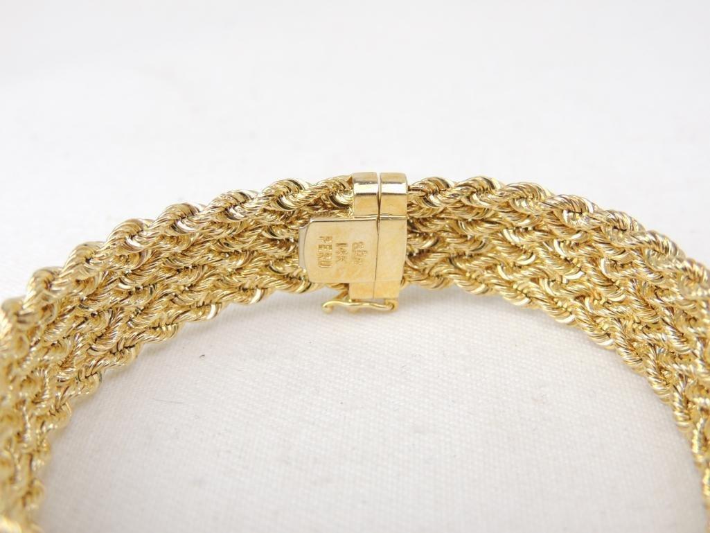 14k Yellow Gold Braided Bracelet - 2