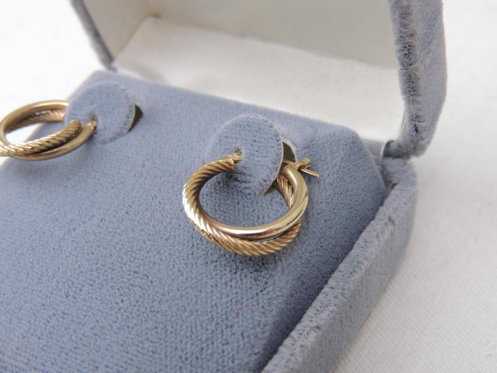10k Yellow Gold Hoop Earrings - 2