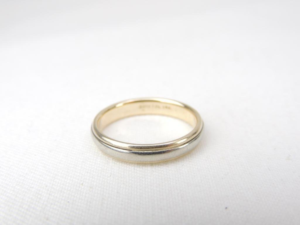14k Yellow & White Gold Wedding Band