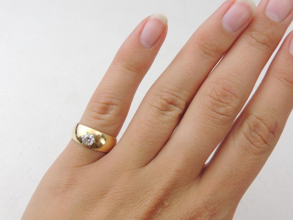 14k Yellow Gold Diamond Ring - 3