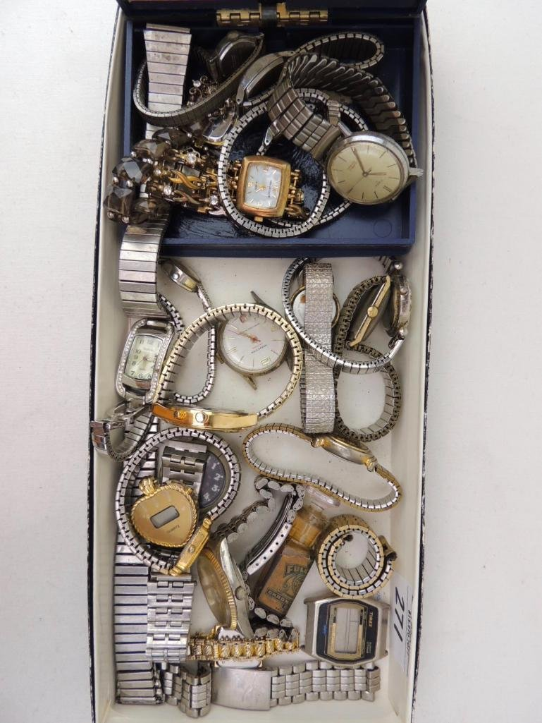Large Lot of Vintage and Modern Wrist Watches