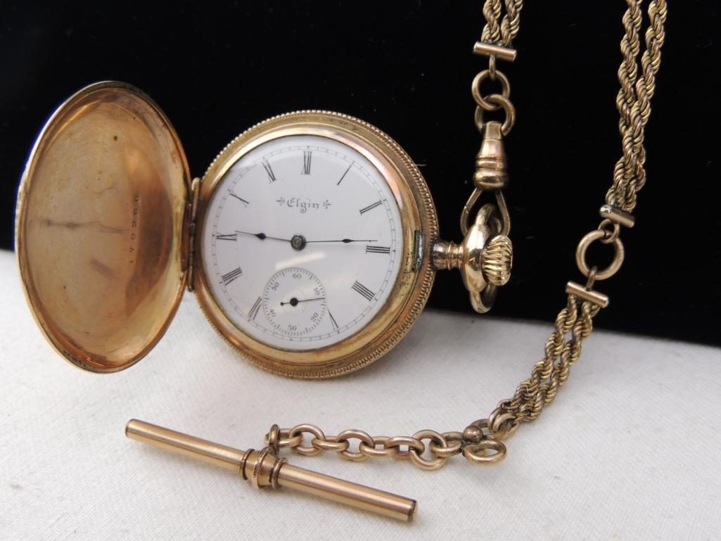 Antique Elgin Pocket Watch with Chain