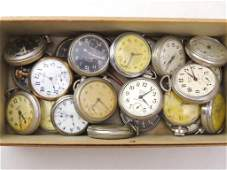 Group of Vintage Westclox & Ingersoll Pocket Watches