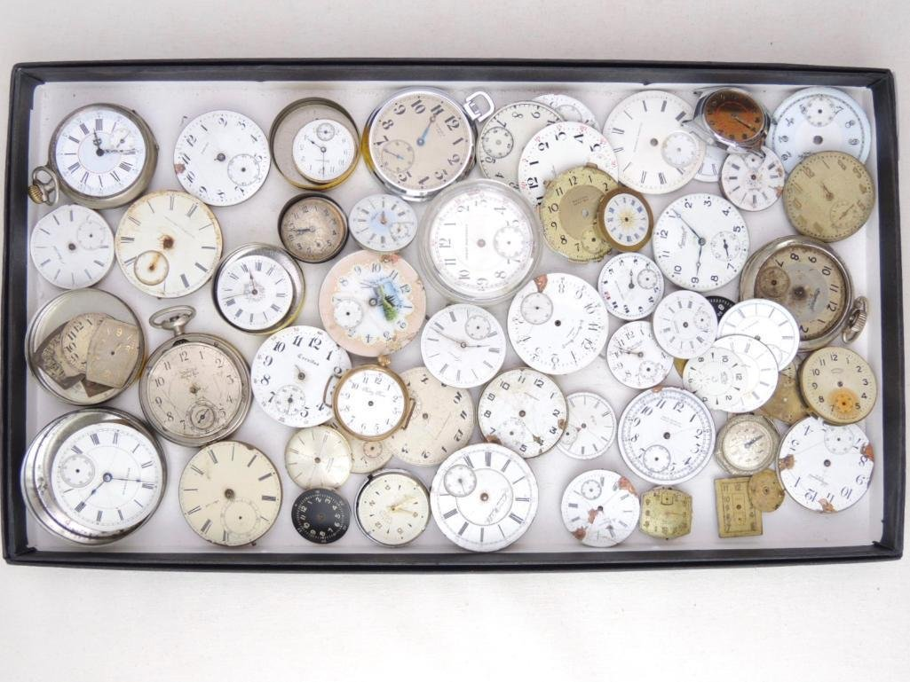 Large Lot of Vintage Watch Faces