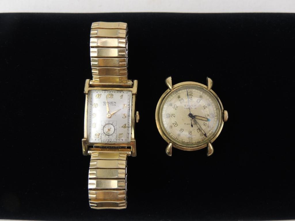 Lot of 2 Gruen Veri-Thin Wrist Watches