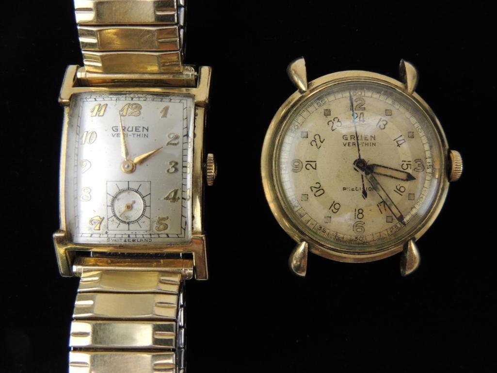 Lot of 2 Gruen Veri-Thin Wrist Watches - 2