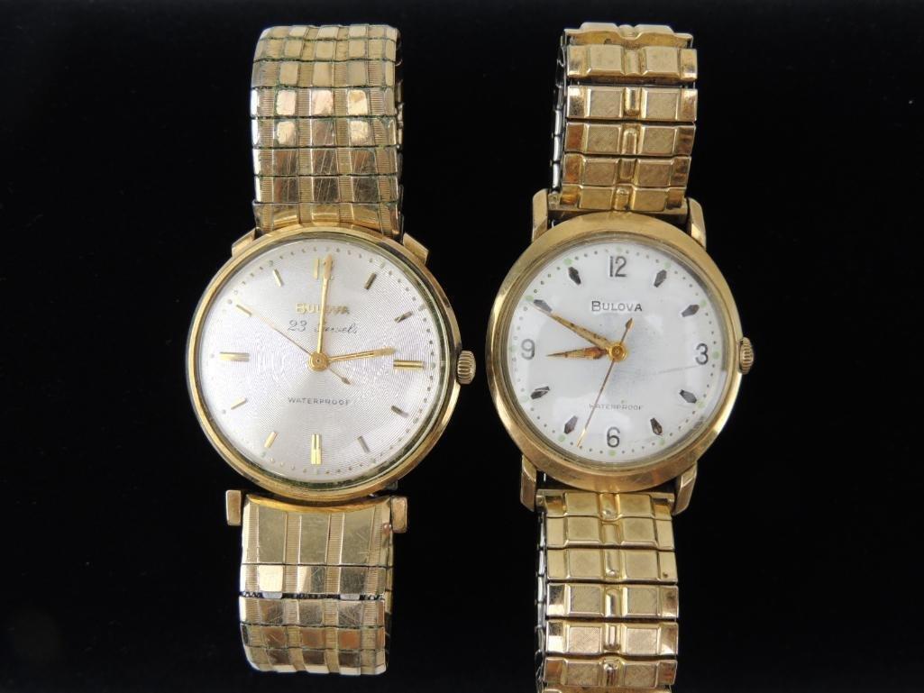 Bulova Waterproof Wrist Watches Lot of 2