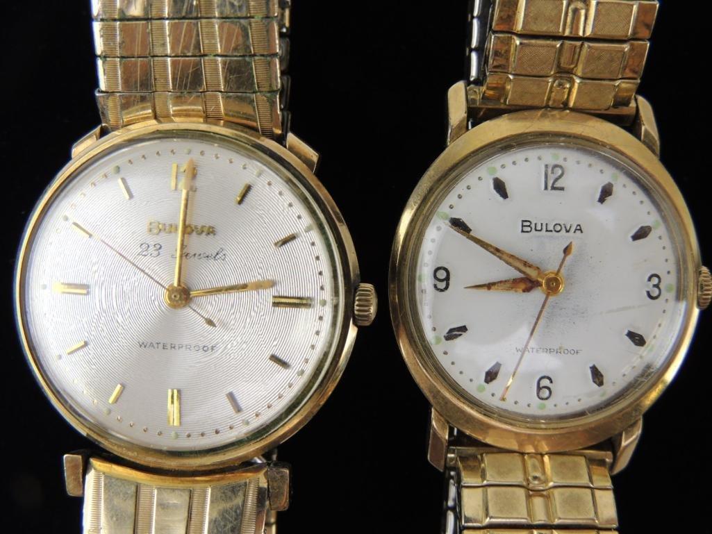 Bulova Waterproof Wrist Watches Lot of 2 - 2