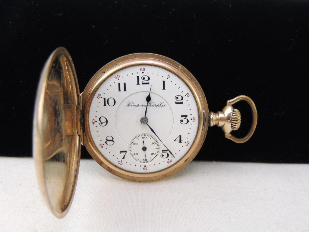 Antique Hampden Men's Pocket Watch