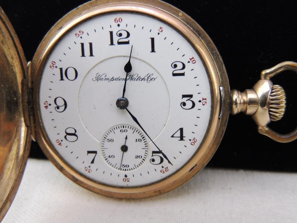 Antique Hampden Men's Pocket Watch - 2