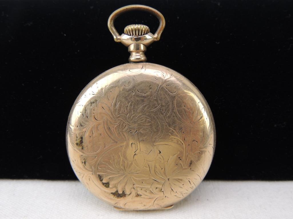 Antique Hampden Men's Pocket Watch - 3