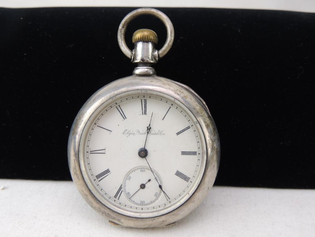 Antique Open Face Elgin Pocket Watch