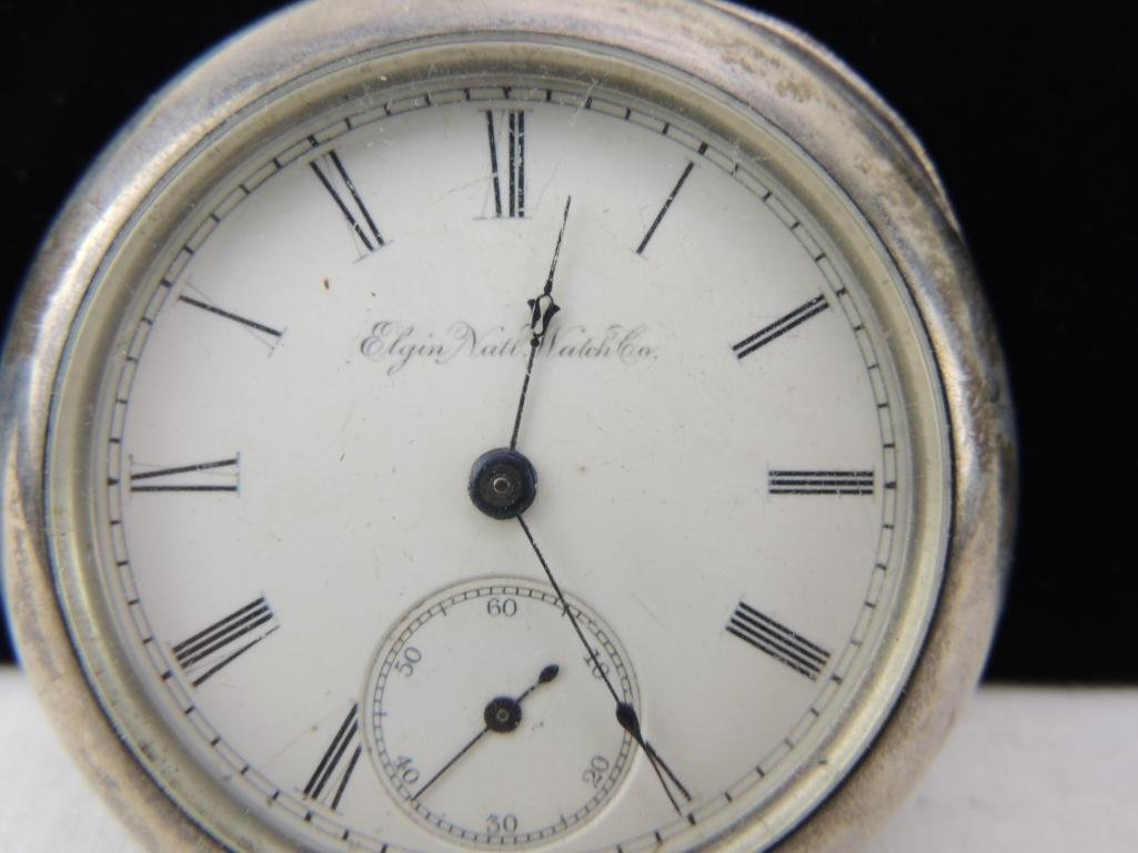 Antique Open Face Elgin Pocket Watch - 2