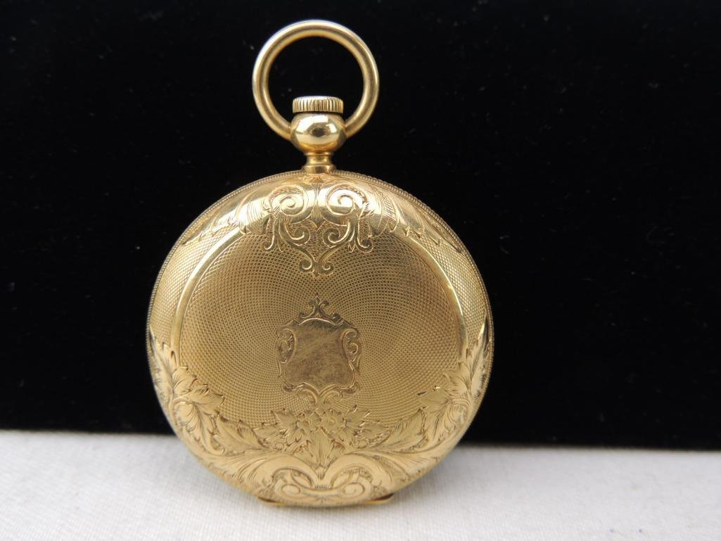 Antique Lady Elgin Pocket Watch with Box - 2