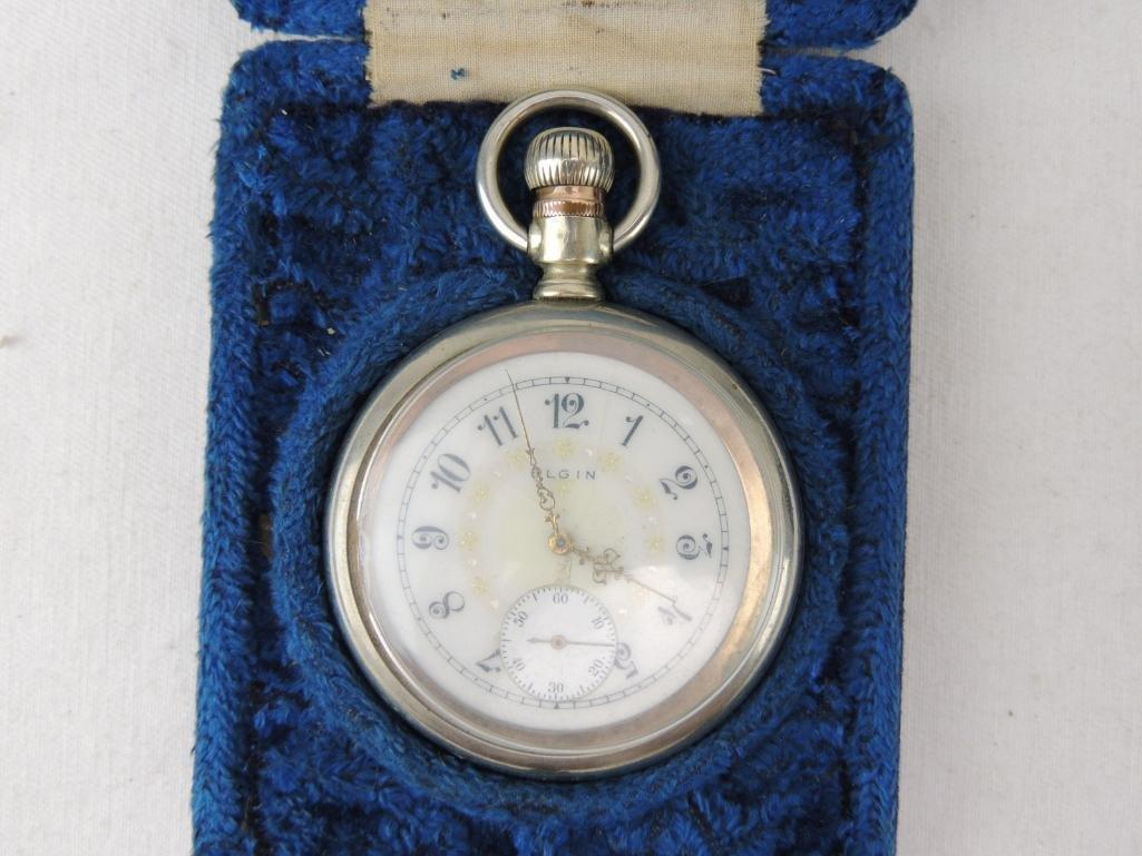 Men's Antique Elgin Pocket Watch with Box