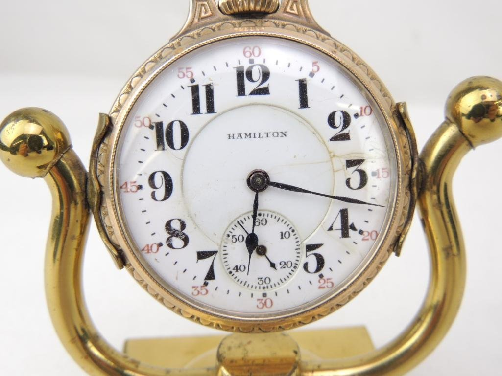 Hamilton Model 992 21 Jewels Pocket Watch With Stand - 2