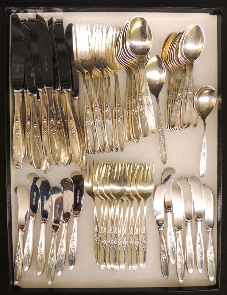 Towle Rose Solitaire Sterling Silver Flatware Set