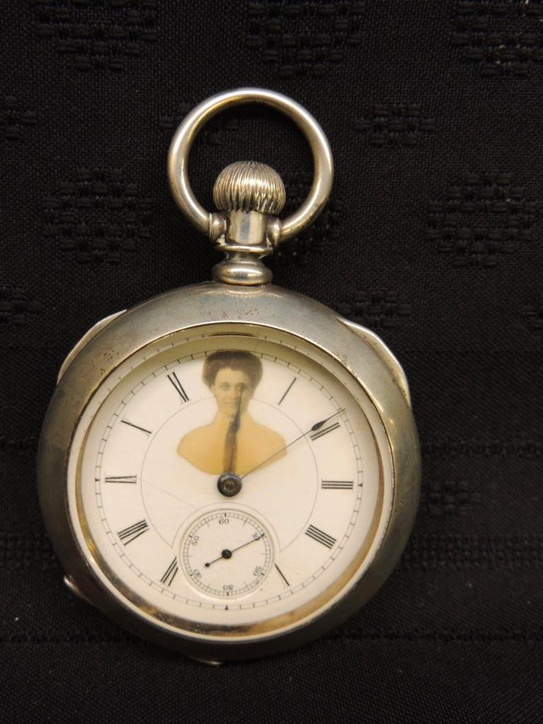 Antique Illinois Watch Co Pocket Watch with Victorian