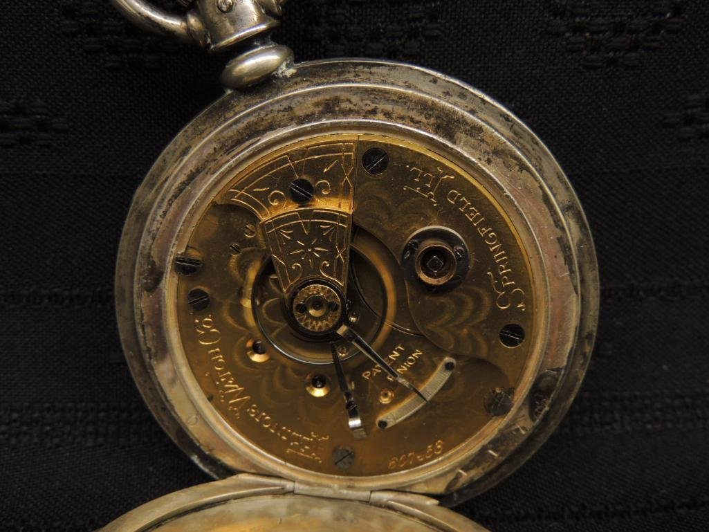 Antique Illinois Watch Co Pocket Watch with Victorian - 3