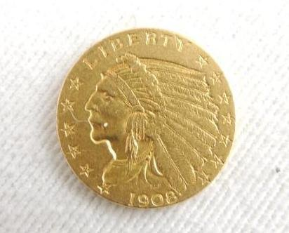 1908 $2.50 Gold Indian
