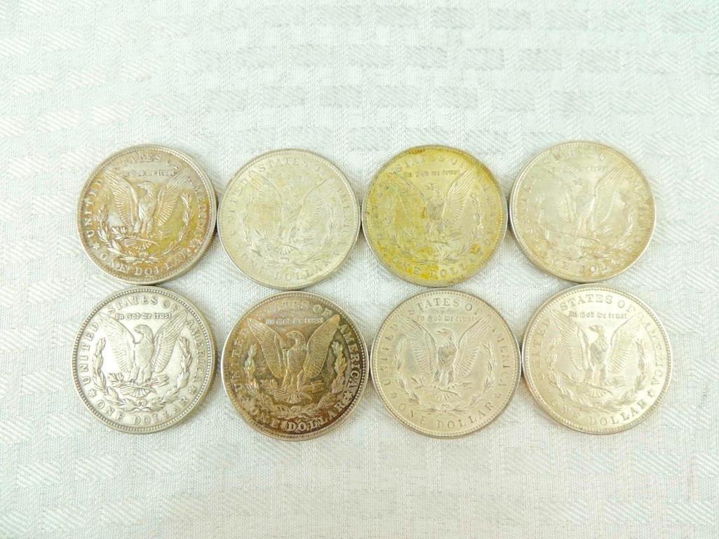 Group of 8 1921 Morgan Silver Dollars - 2
