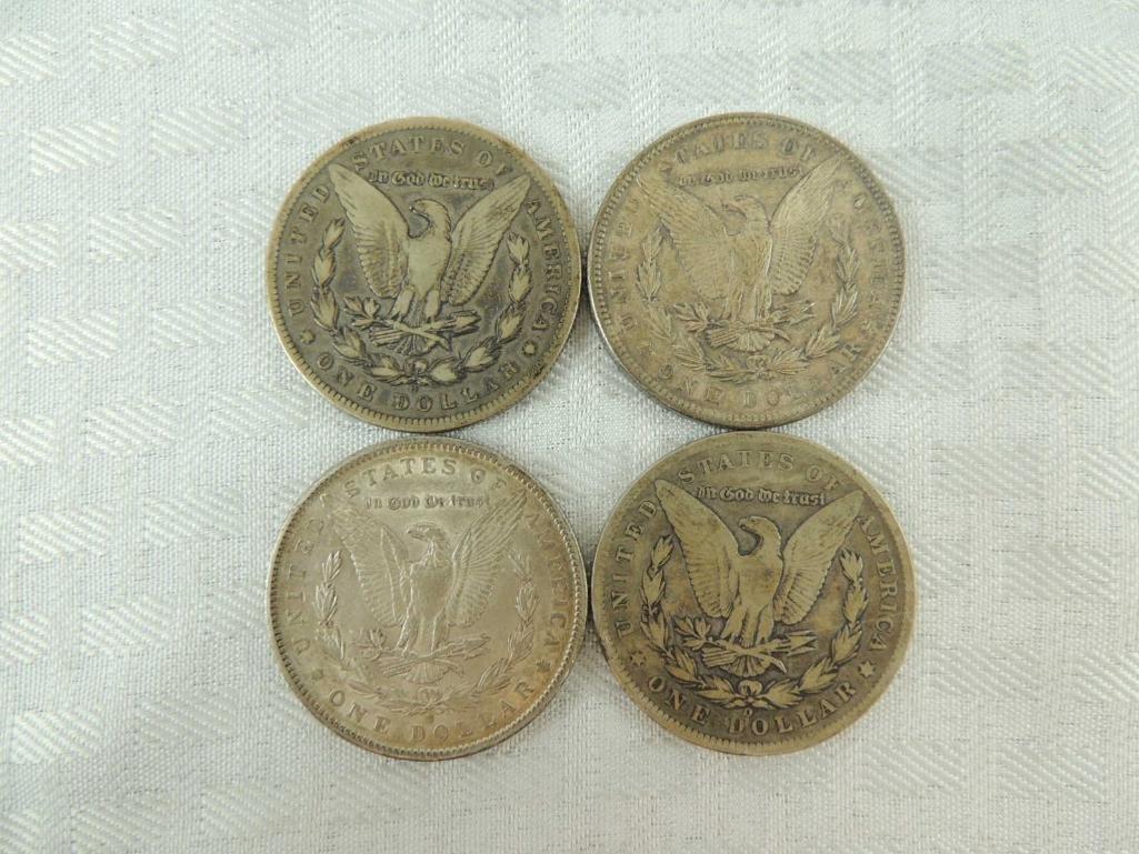 1899 O, 1891, S, 1891 O, and 1896 P Morgan Silver - 2