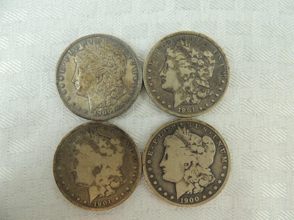 1900 P, 1900 O, and 1901 O Morgan Silver Dollars Group