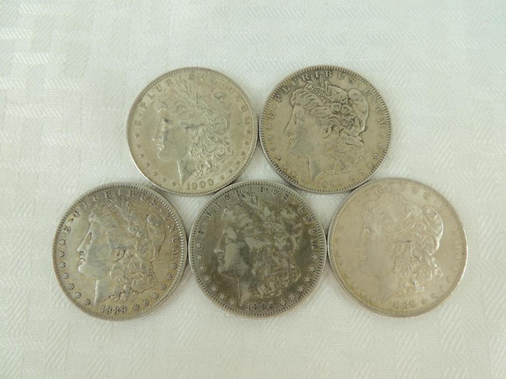 1885 P, 1889 P, and 1890 P Morgan Silver Dollars Group
