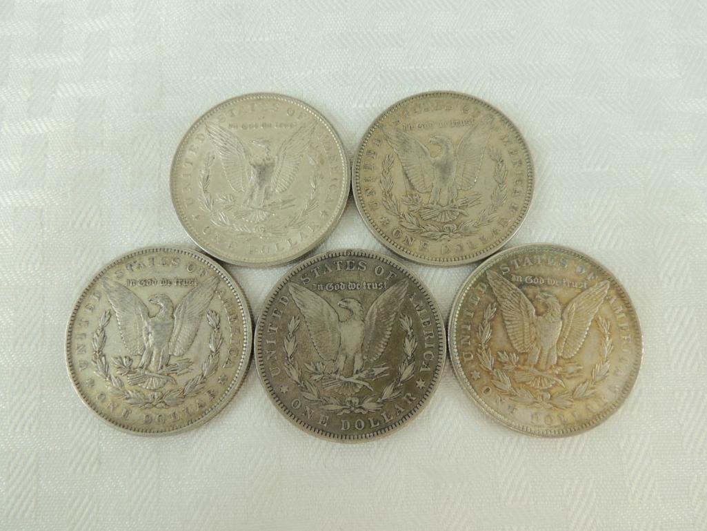 1885 P, 1889 P, and 1890 P Morgan Silver Dollars Group - 2
