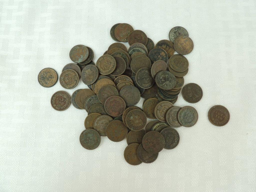 Group of Indian Head Pennies