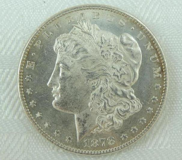 1878-P 7 Tail Feathers Morgan Silver Dollar