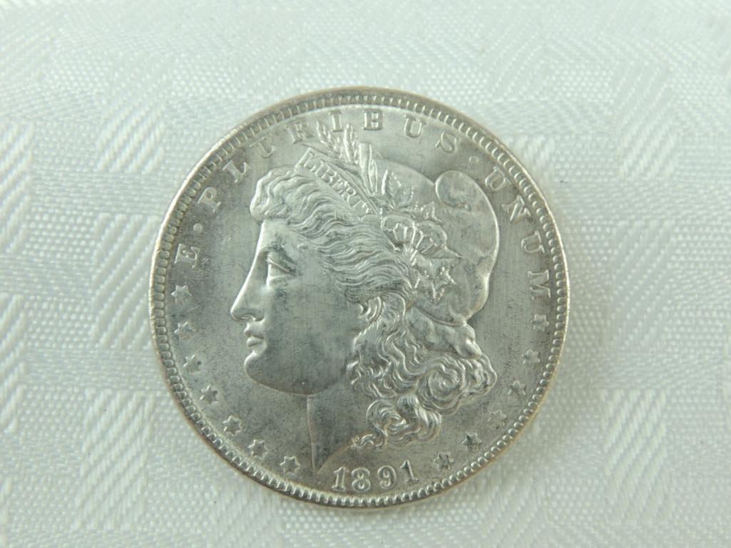 1891-P Morgan Silver Dollar
