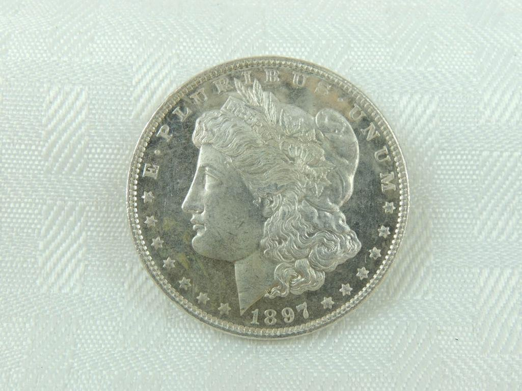 1897-P Morgan Silver Dollar