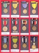 Group of 12 US World War II Medals