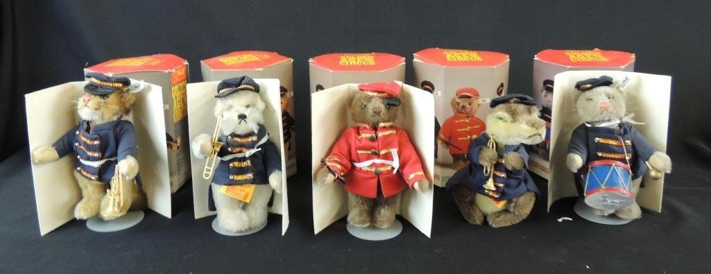 Group of 5 Golden Age of the Circus Steiff Circus Band