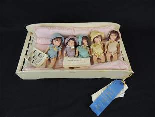 The Dionne Quintuplets Antique Dolls in Award Winning