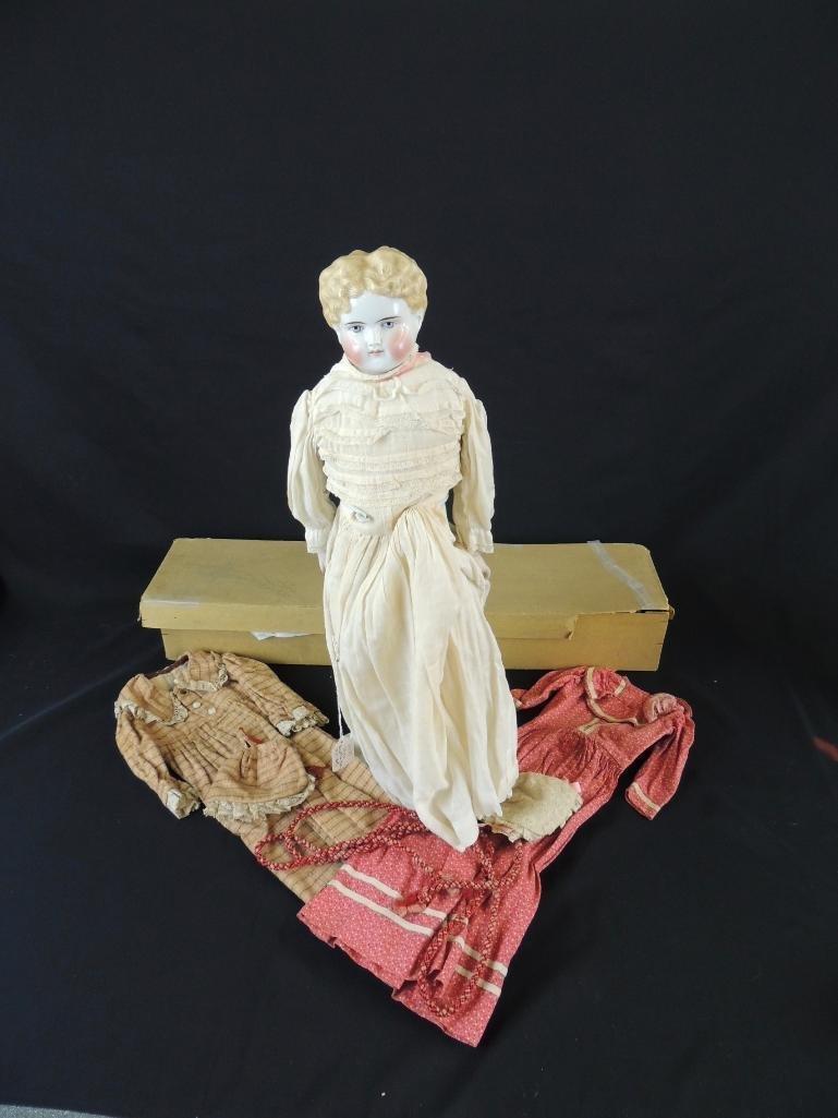 Antique Kestner 1870 Porcelain Doll with Original Box - 6