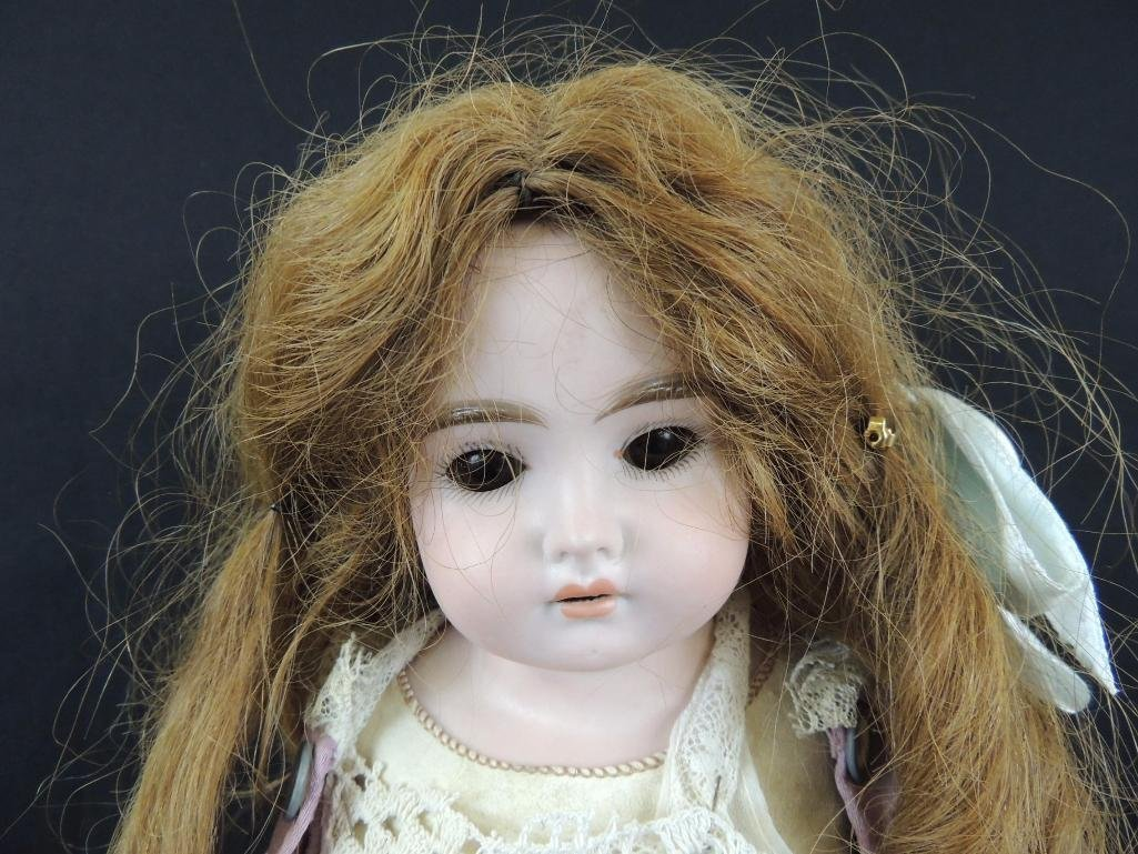 Antique Bisque Doll Marked Darling with Pink Dress - 2