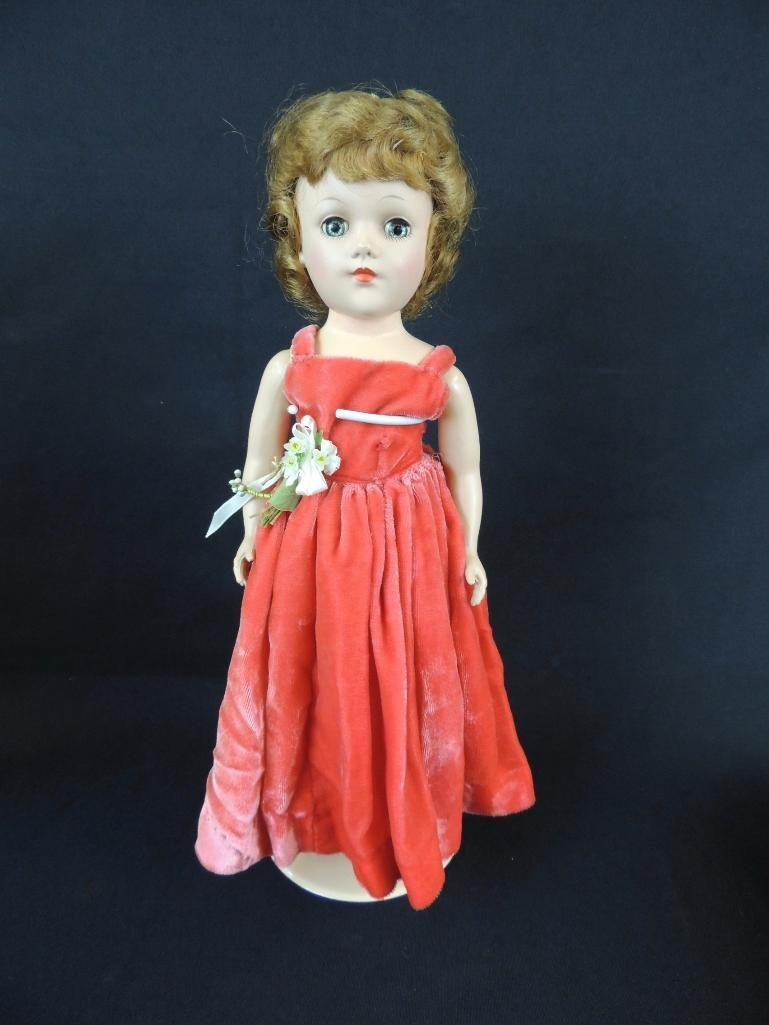 Antique Mary Hoyer Doll with Red Dress