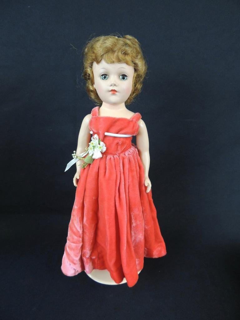 Antique Mary Hoyer Doll with Red Dress - 2