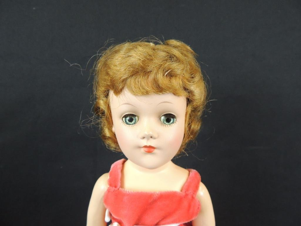 Antique Mary Hoyer Doll with Red Dress - 3