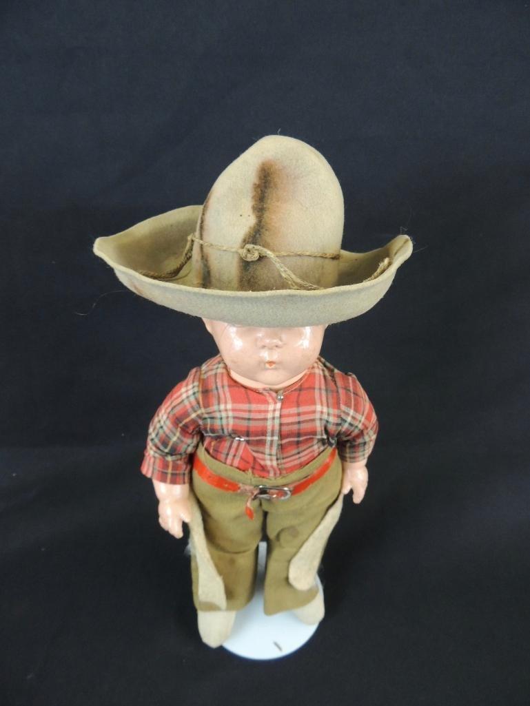 Antique Whistler Composition Cowboy Doll - 3
