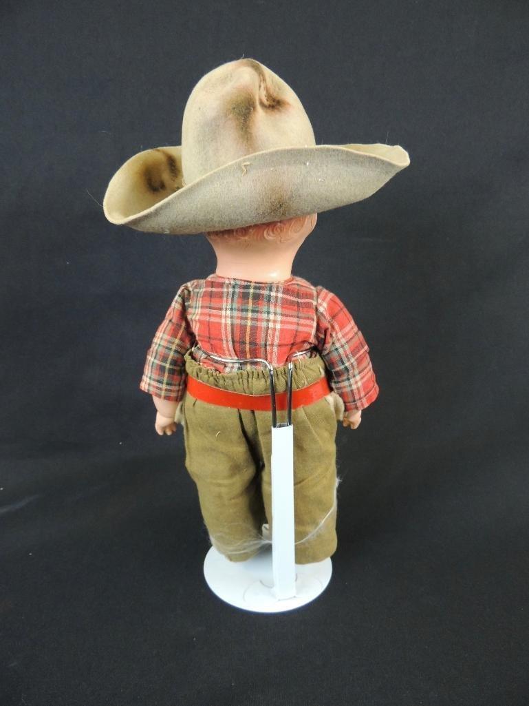 Antique Whistler Composition Cowboy Doll - 4