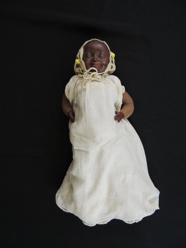 Vintage 1960 Black Americana Baby Doll Made by Maggie