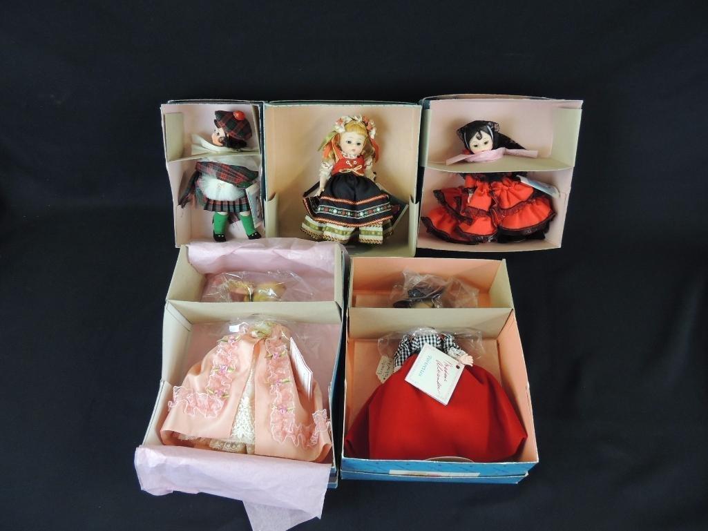 Group of 5 Vintage Madame Alexander Dolls with Original