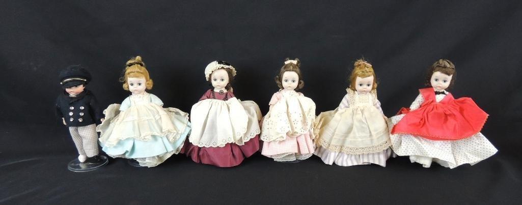 Group of 6 Vintage Madame Alexander Little Women