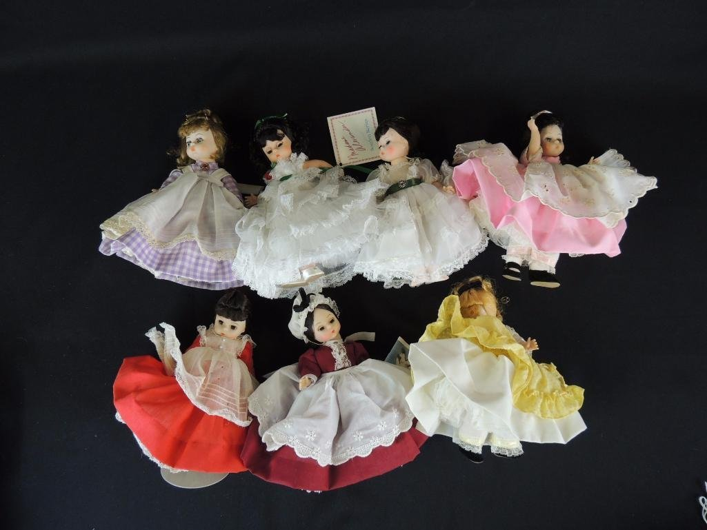 Group of 7 Madame Alexander Dolls