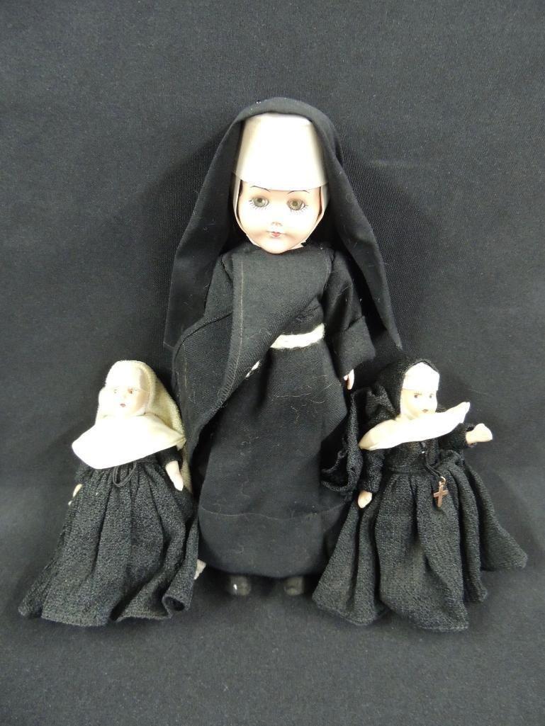 Group of 3 Vintage Nun Dolls
