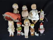 Group of 9 Porcelain Figurines and Dolls Featuring