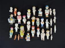Group of 31 Antique Porcelain Baby and Children Frozen